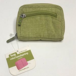 Lug Wallet Mini Handspring Green Zipper NWT